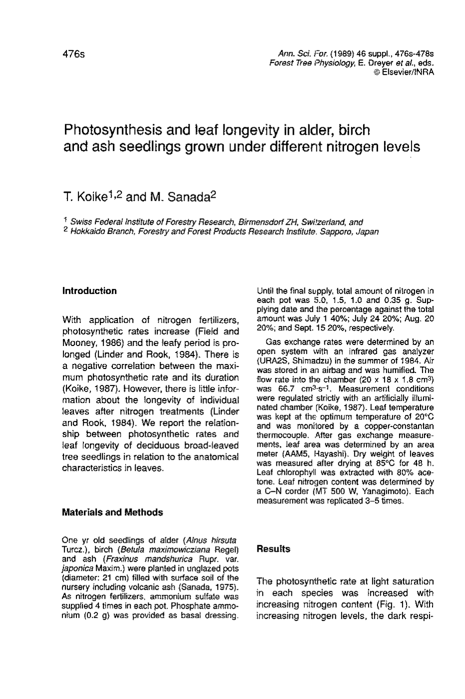 photsynthesis articles